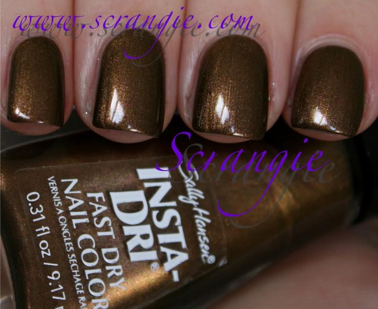 Scrangie: Sally Hansen Insta-Dri Fast Dry Nail Color in Bronze Ablaze