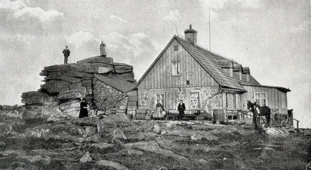 Bouda u Sněžných jam kolem roku 1860