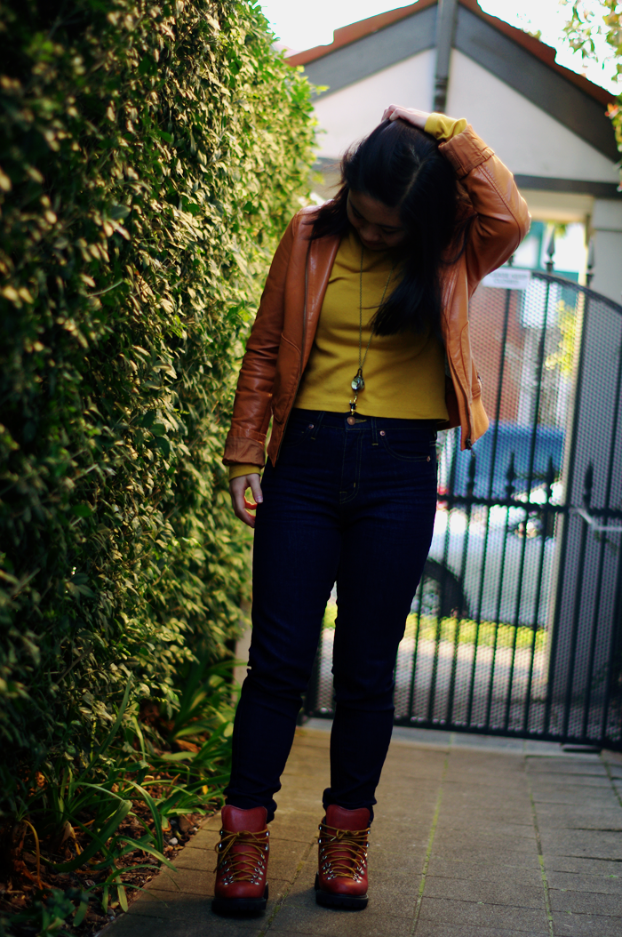 elashock, blog, blogger, fashion blog, personal style, outfit, ootd, agent ninetynine, general pants, jeans, mustard yellow, pleather jacket, leather jacket, uniqlo, muji, alice in wonderland, rabbit, bunny, japanese, australian, english, necklace watch, pocket watch, エラショック, ファッション, ファッションブログ, ブロガー, 私服, コーディネート, コーデ, 無印良品, ユニクロ