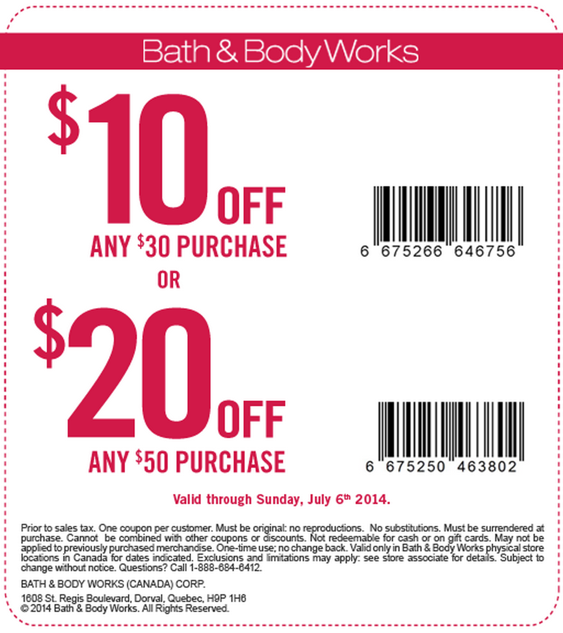 6. Redeem Bath & Body Works promo codes by entering them in the empty box on the first step of the checkout process. If you don't see the discount reflected in the total, check for exclusions or an expiration date. 7. Choose the best Bath & Body Works coupon you have when you shop because only one promotion can be used per transaction.