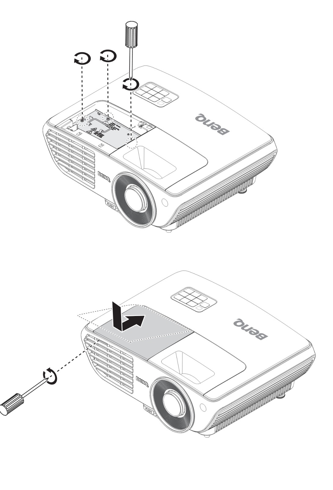 benq ep5920 projector - lamp information