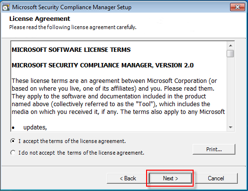 03 security compliance manager license terms