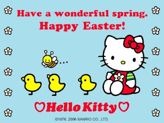 Hello Kitty Happy Easter picture e-card