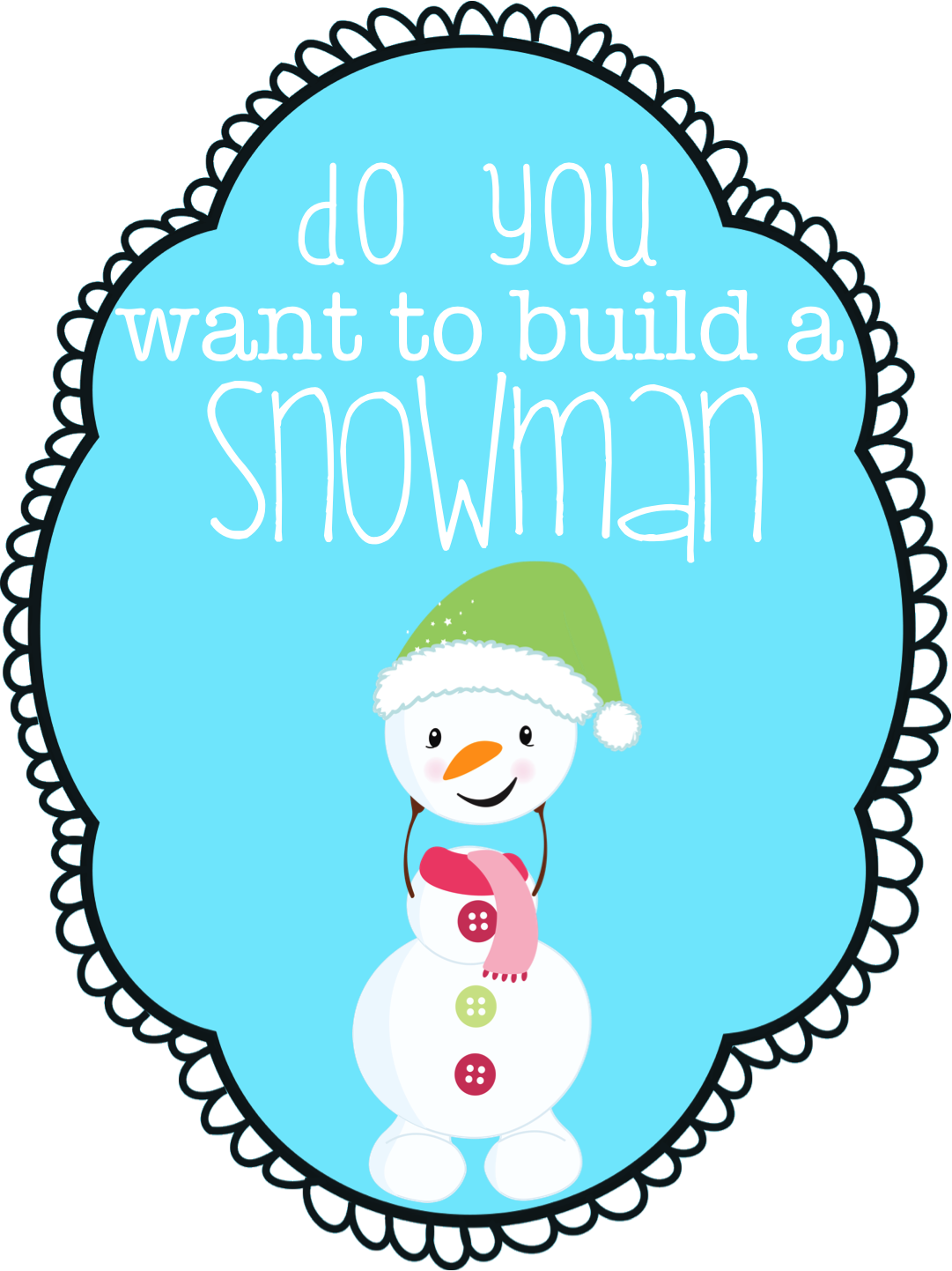Jedi craft girl do you want to build a snowman