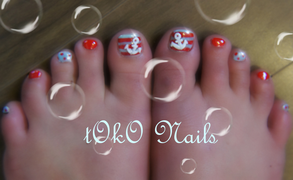 Cute Nail Designs With Anchors Anchor Nail Designs Toes