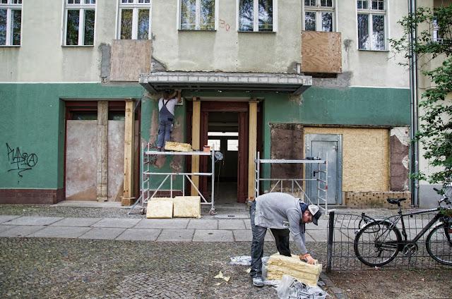 Baustelle Erker Unterfangung, Triftstraße 46, 13353 Berlin, 23.04.2014
