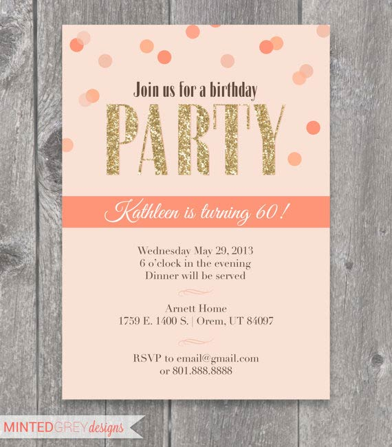 Birthday Invitations For Adults could be nice ideas for your invitation template