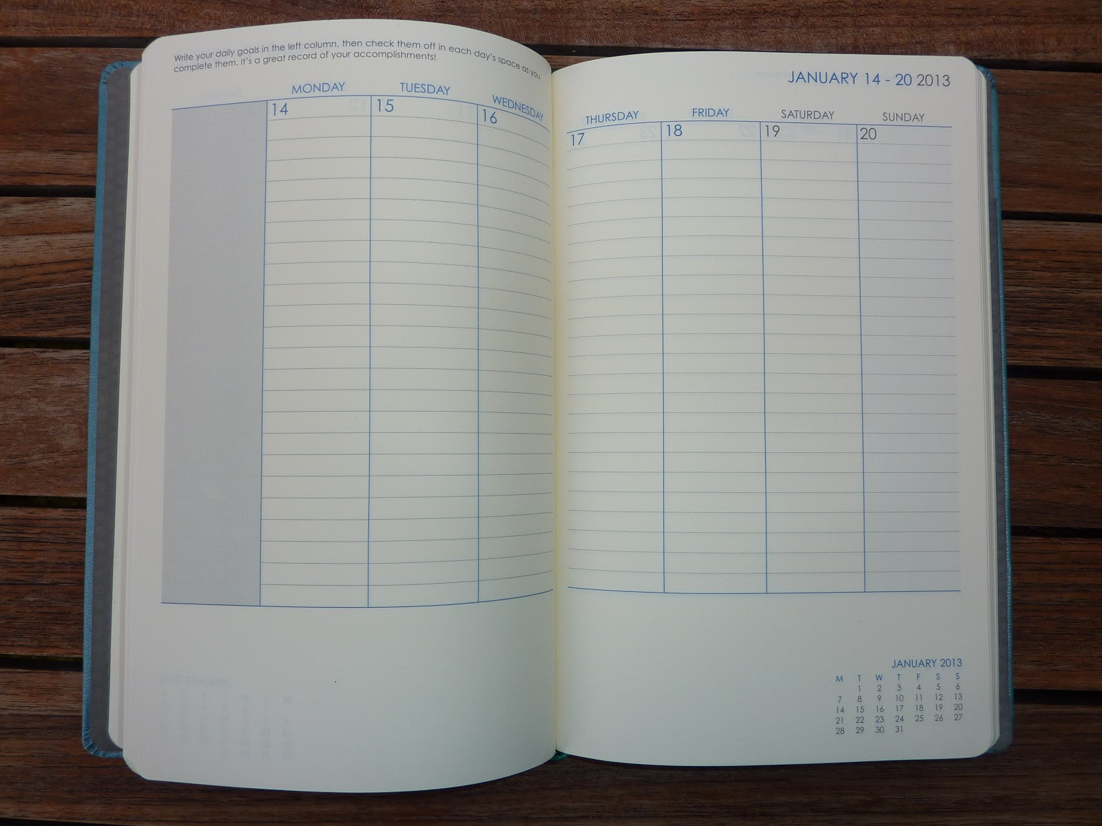 My Calendar Planner : Plannerisms using the planner as a goals workbook