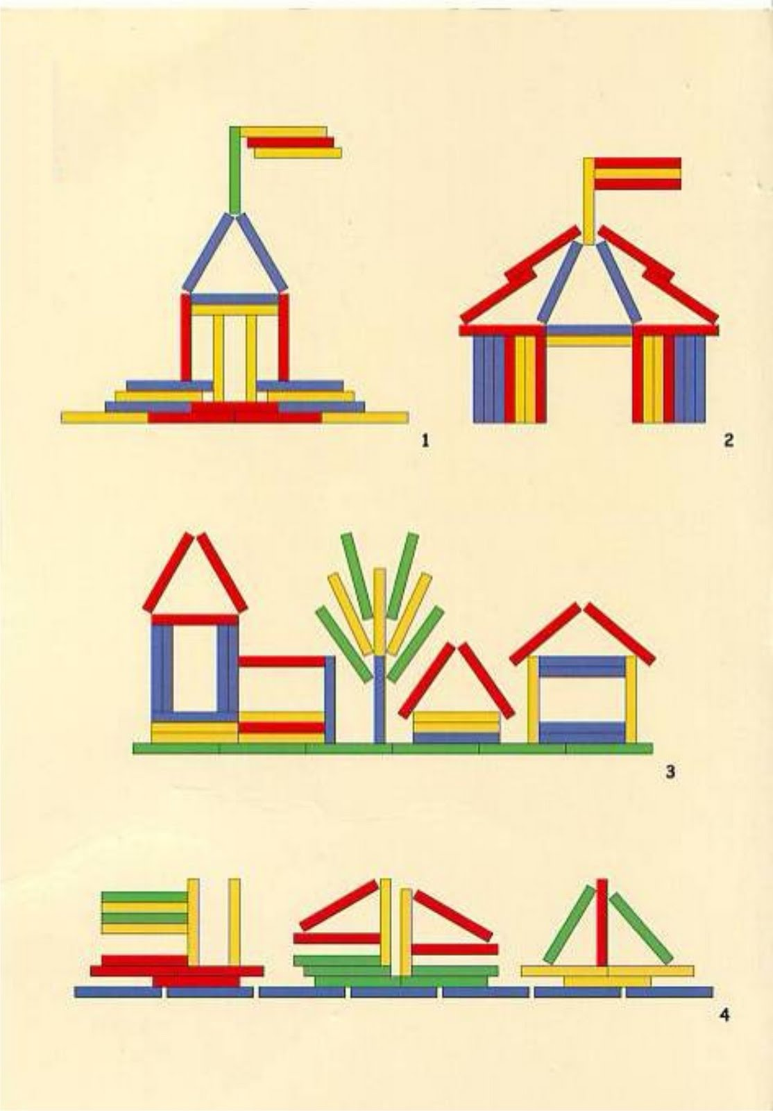 Схема по конструированию для дошкольников