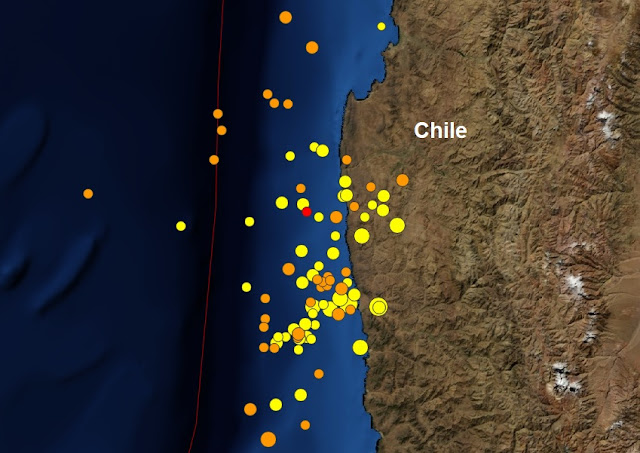 Another aftershock for Chile: A mag 6.3 earthquake - 90km NW of Valparaiso  Untitled