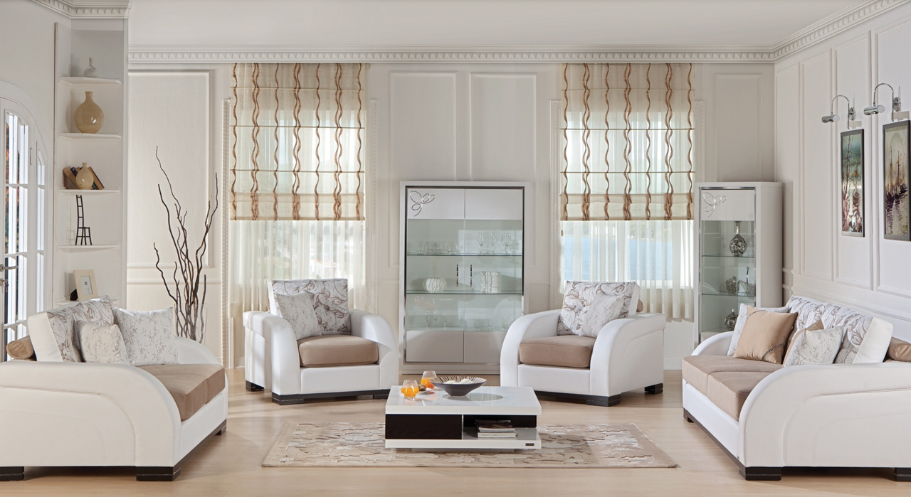 Modern beyaz koltuk tak mlar - Koltuk Takimi Modelleri