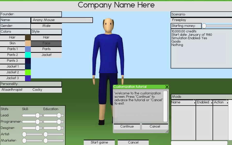 Software Inc. avatar creation