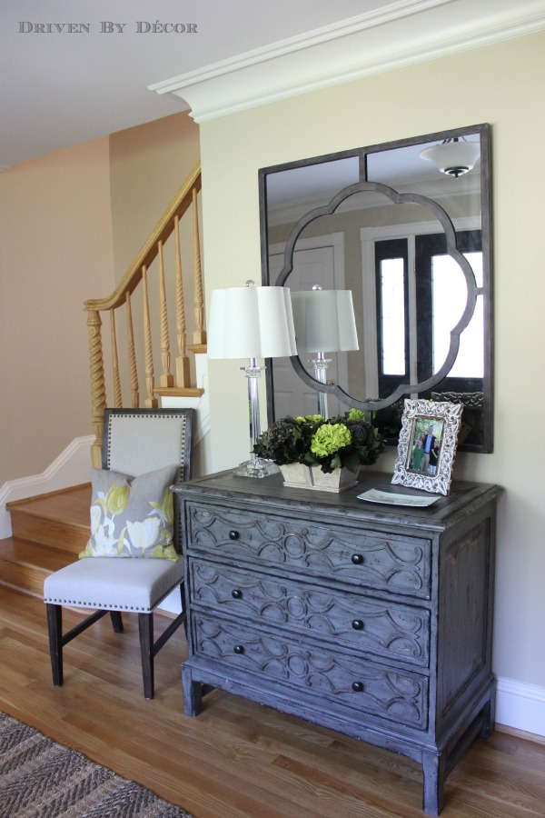 Entry Foyer Chests : A foyer quot before and after driven by decor