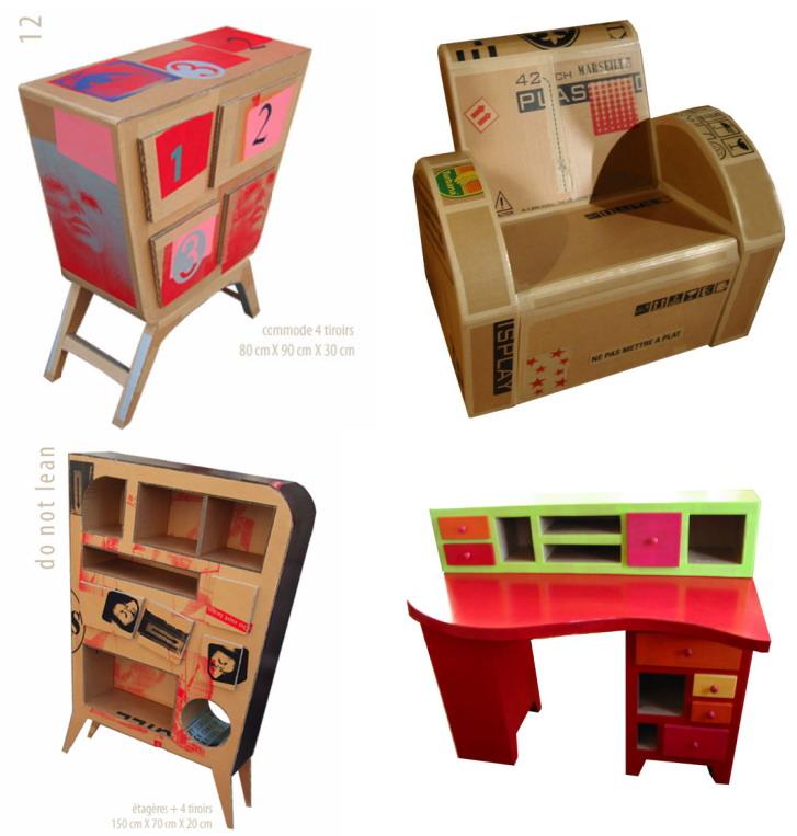 El mundo del reciclaje recicla cart n - Muebles de carton ...