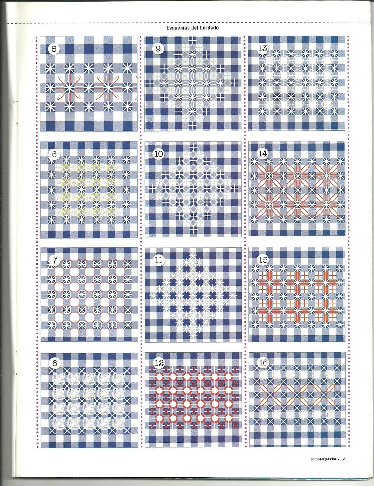 Вышивка на ткани в клетку лучшее в блогах 72
