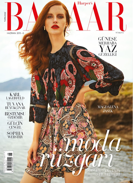 Fashion Model @ Magdalena Jasek by Cihan Oncu for Harper's Bazaar Turkey, June 2015