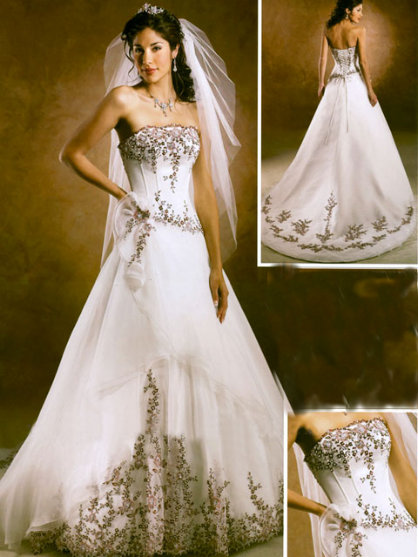 She fashion club white indian wedding dress for Indian wedding dresses for bride
