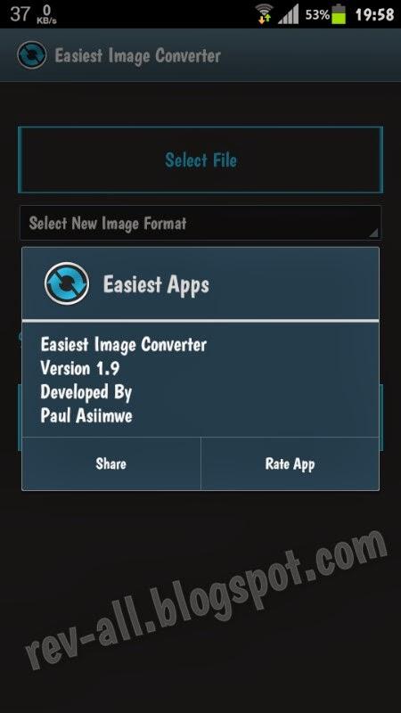 Tentang Image Converter Lite - aplikasi android untuk merubah ukuran gambar dan jenis gambar (rev-all.blogspot.com)