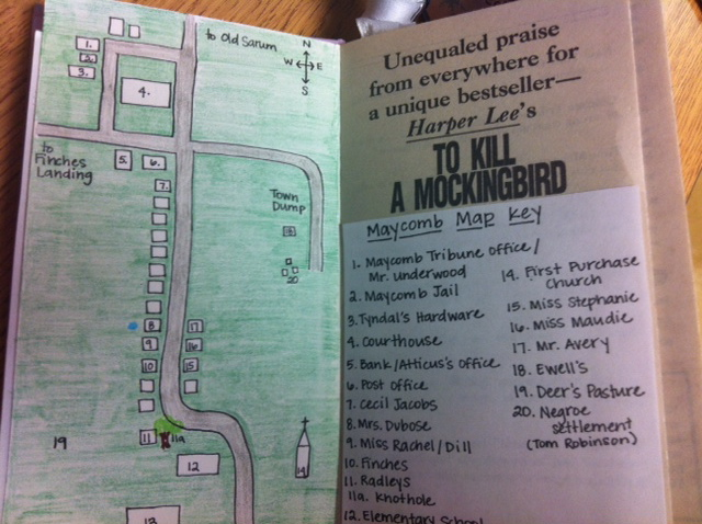 Map Of Maycomb With Quotes