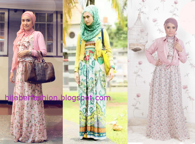 Ide gaya busana vintage wanita muslimah terbaru 2014 Retro style fashion for muslimah