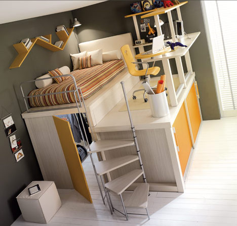 Creative-and beatuful-design-bunk-beds-for-teenagers