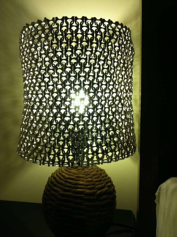 ... jenis kreatifitas tempat lampu dari tuas pembuka softdrink lampu tidur