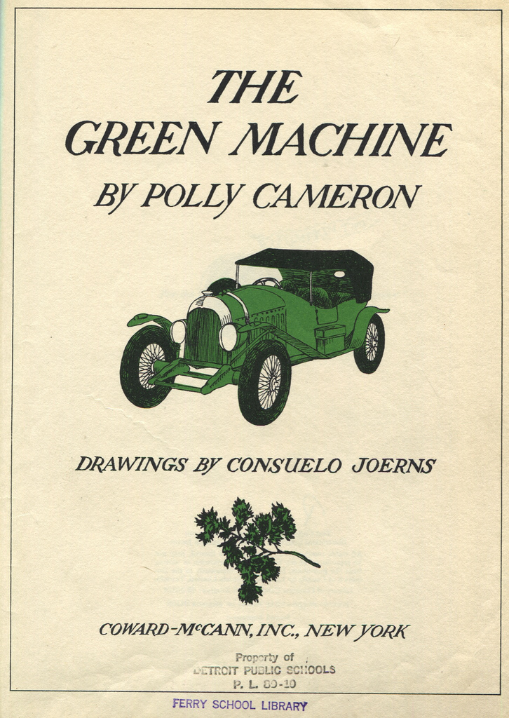 The Green Machine by Polly Cameron (1969) | Sweet Juniper\'s Vintage ...