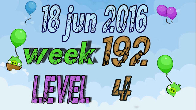 Angry Birds Friends Tournament level 4 Week 192