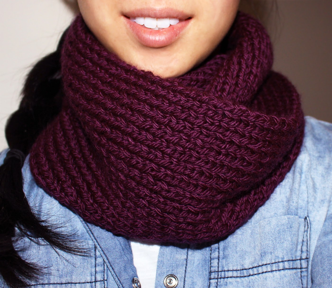 Purllin Acai Infinity Circle Scarf free knitting pattern How To Knit An Infinity Scarf Pattern
