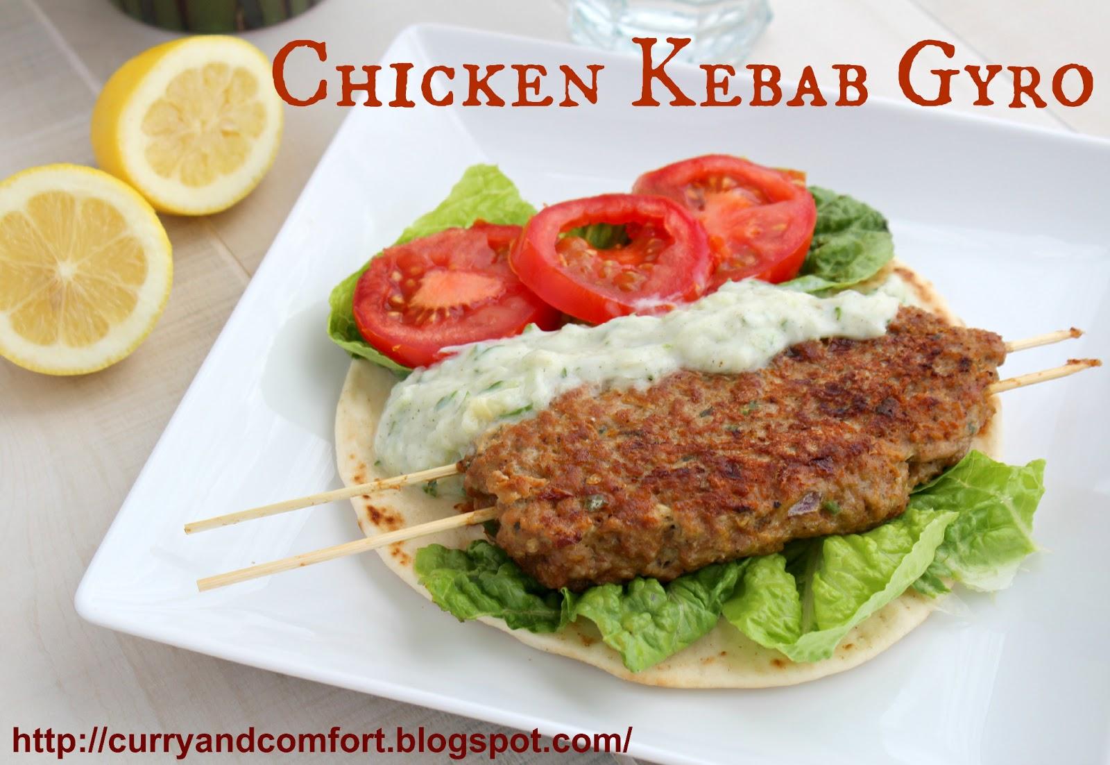 Chicken Kebab Gyro with Tzatziki Sauce (Throwback Thursdays)