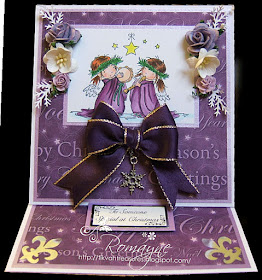 CDS011G Craft Creations Sheet of 24 Die Cut Gold Happy Christmas Toppers