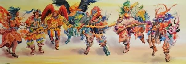 Danza diabólica de máscaras y hombres