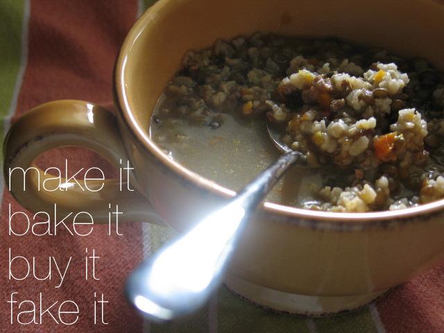 Lentil, Sausage & Rice Soup