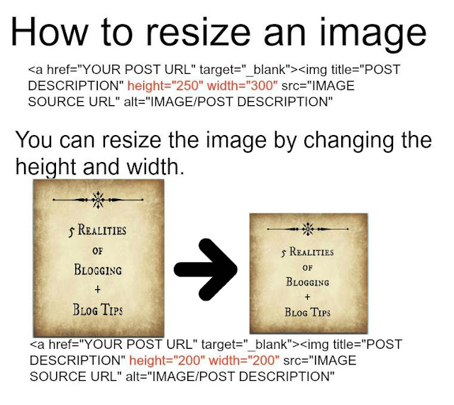 How to resize an Image