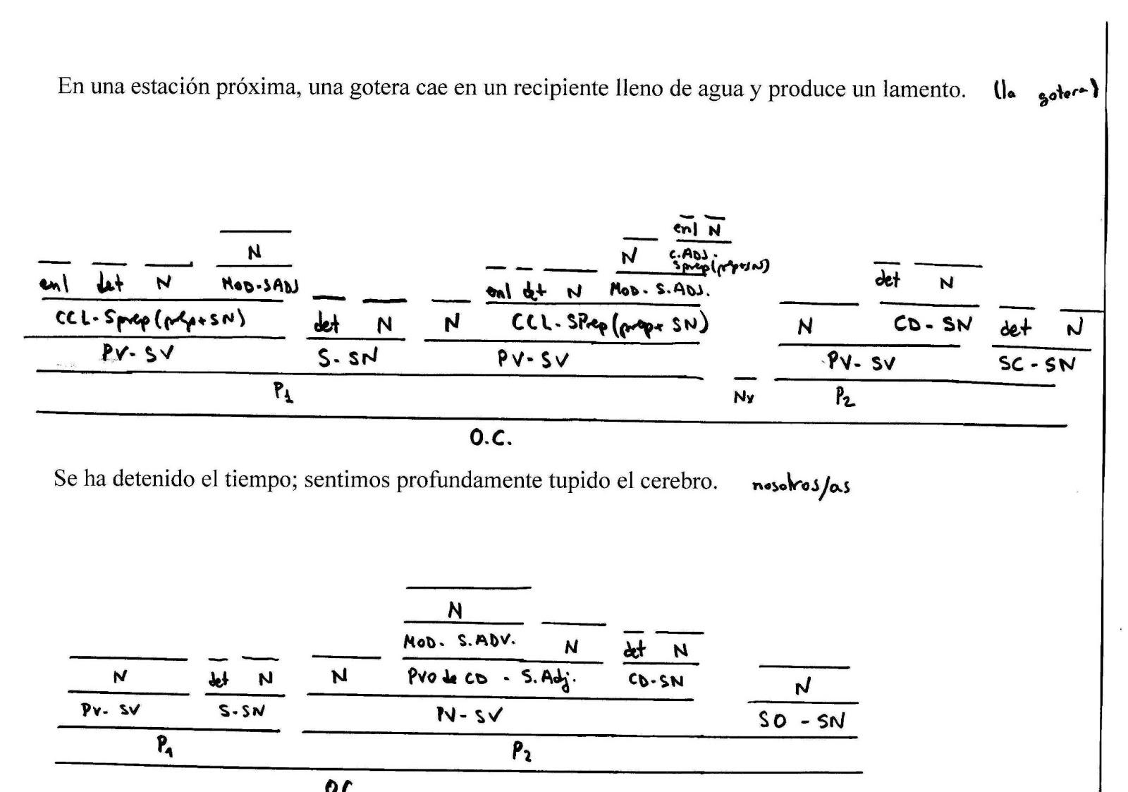 ejercicios de sintaxis lengua:
