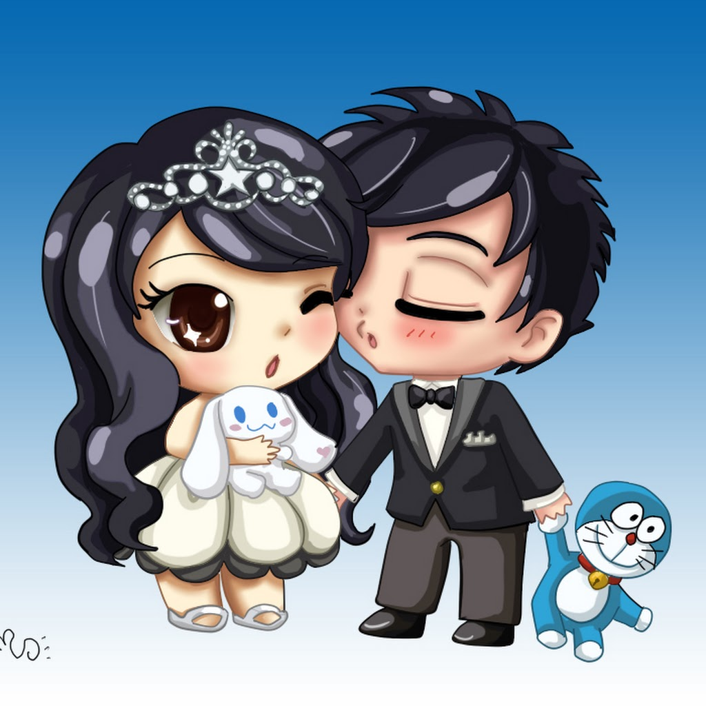 Anime Chibi Couple Drawing