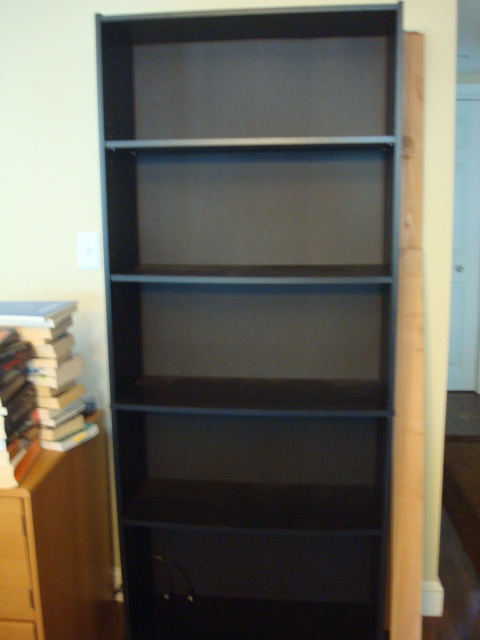 You Will Need: One Crappy WalMart Bookcase.