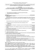 Subiecte titularizare iulie 2011 - Limba Romana (Educatori)