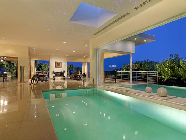 Jardines y casas nuevas piscinas modernas for Casa minimalista con piscina