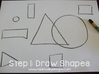 abstract drawing shapes www.rainbowlilydesigns.com