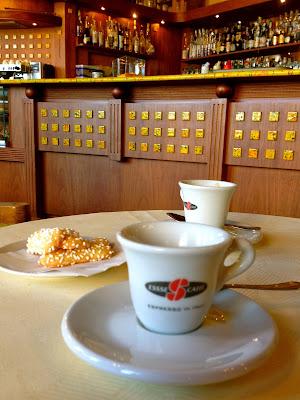Espresso in Bergamo, Italy