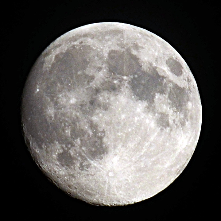 Photo de la lune en gros plan