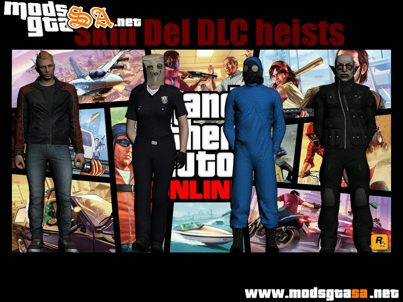SA - Pack de Skins DLC Heists do GTA V Online