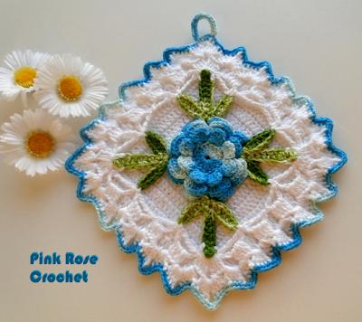 Crochet Pattern Central Potholders : CROCHET GRANNY SQUARE POT HOLDERS ? Only New Crochet Patterns