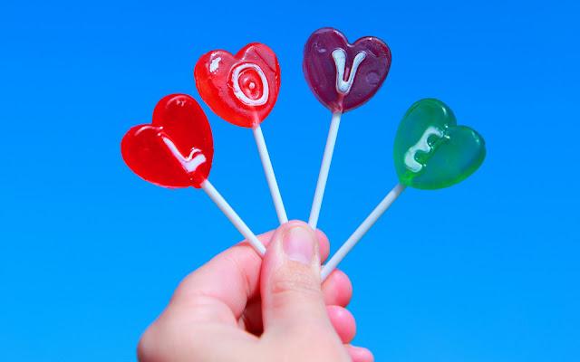 Love con Caramelos - Imágenes de Amor