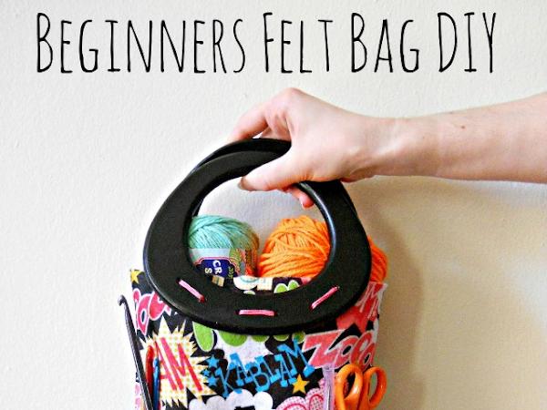 Beginners Felt Bag DIY on Seams and Scissors