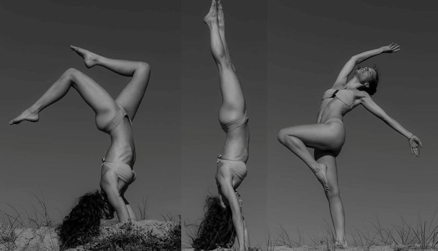 Modelo criciumense pratica yoga e mostra que está em plena forma