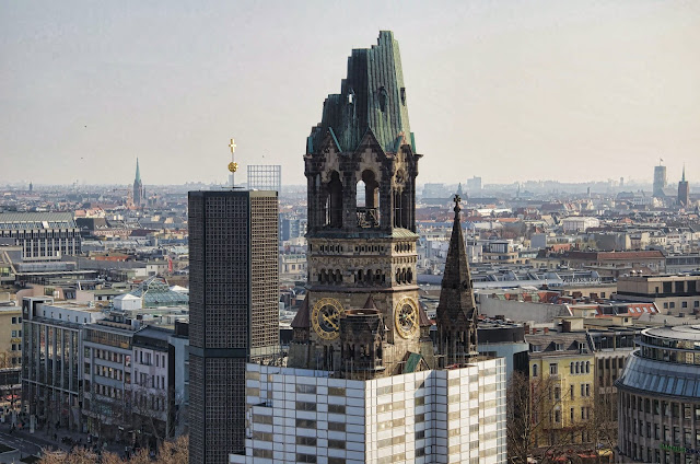 Baustelle Kaiser-Wilhelm-Gedächtnis-Kirche, Denkmalgerechte Sanierung der Turmruine, 10789 Berlin, 11.03.2014