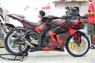 Cutting sticker: CUTTING STICKER NINJA 250 ELEMENT DESIGN