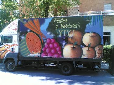 graffiti camion